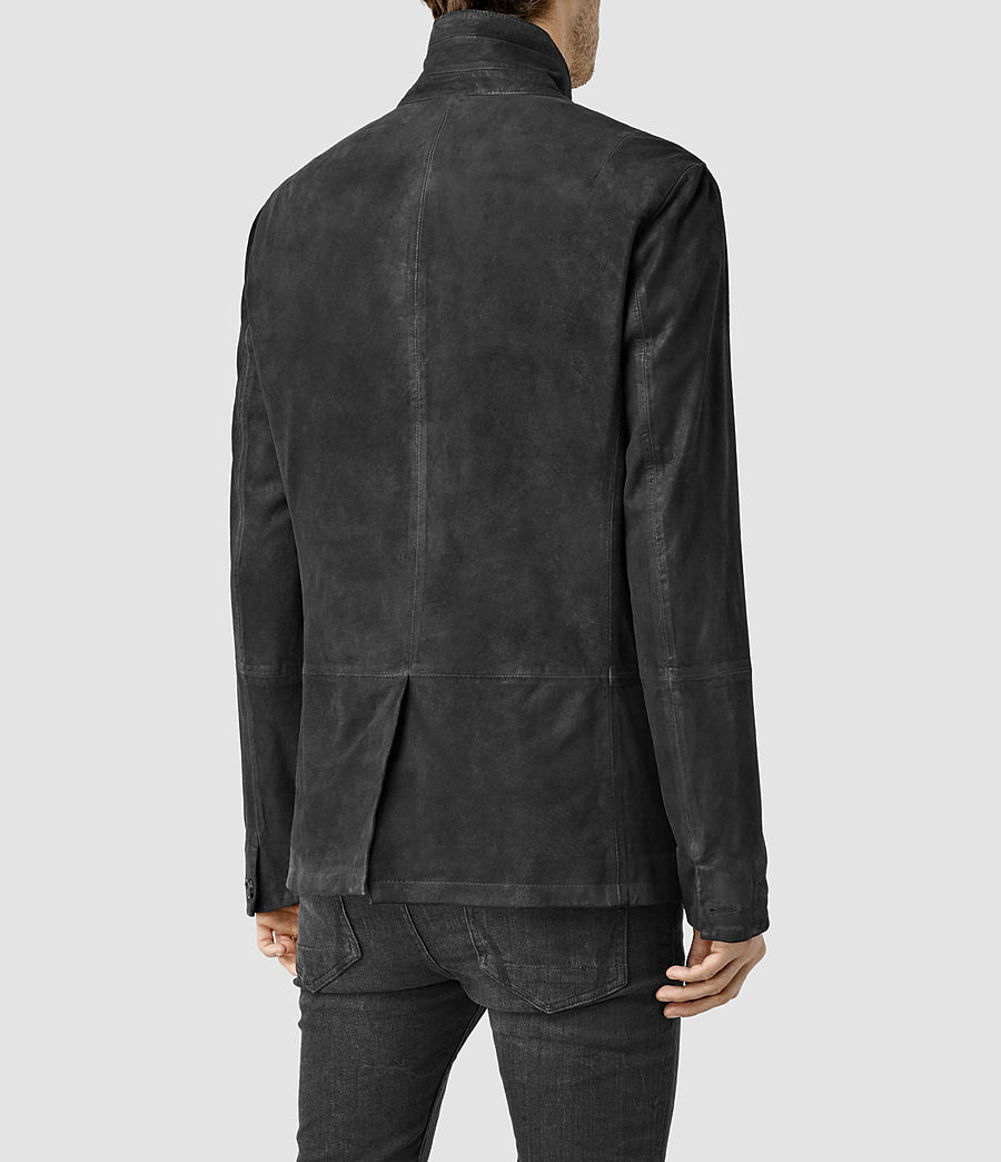 Hombres Emerson Leather Blazer (anthracite_grey) - Image 3