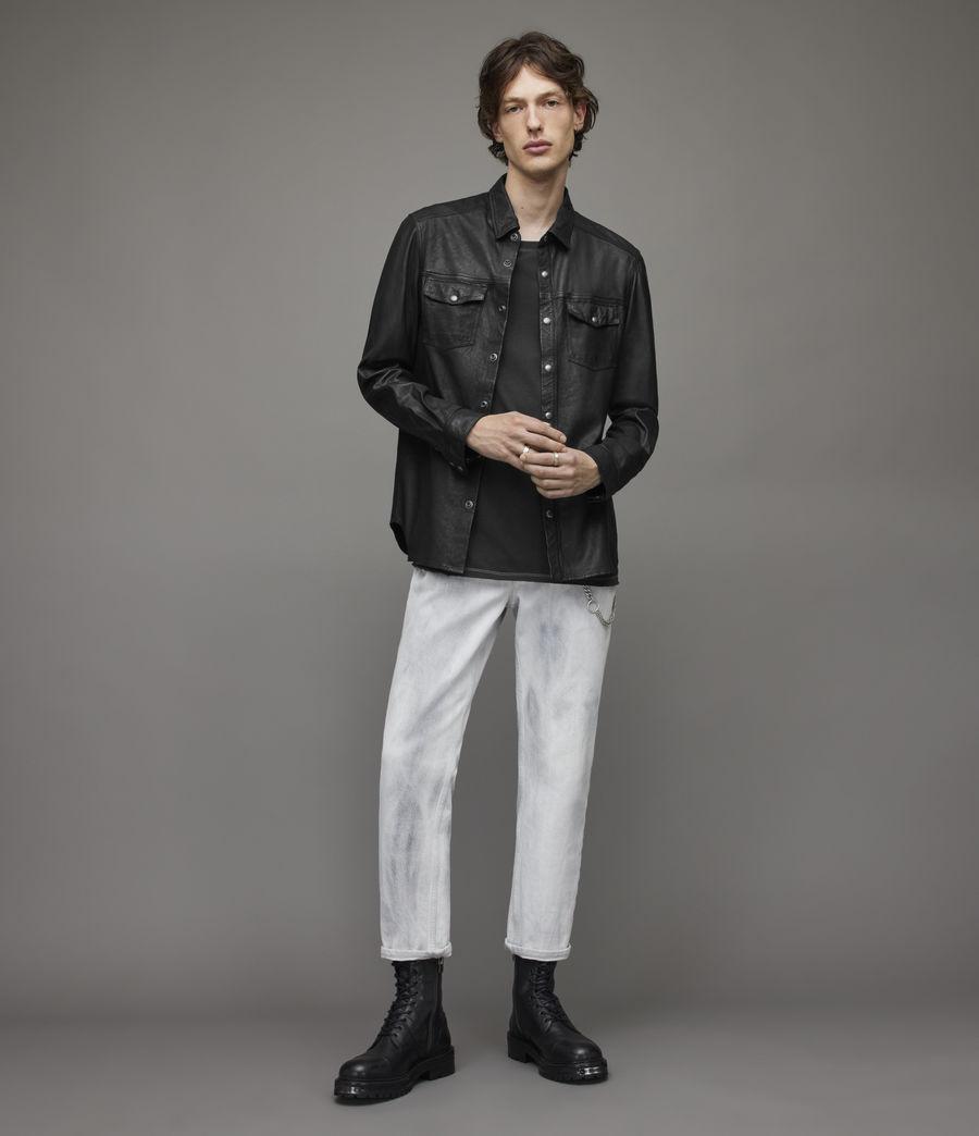 Herren Irwin Leather Shirt (black) - Image 4