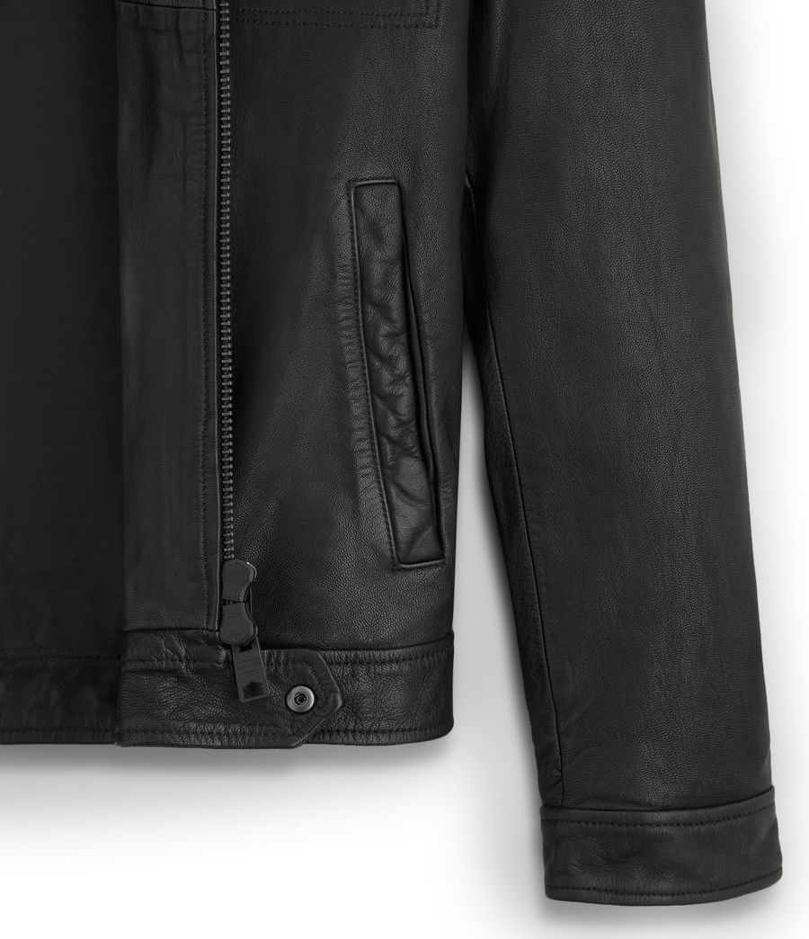 Mens Lark Leather Jacket (black) - Image 6