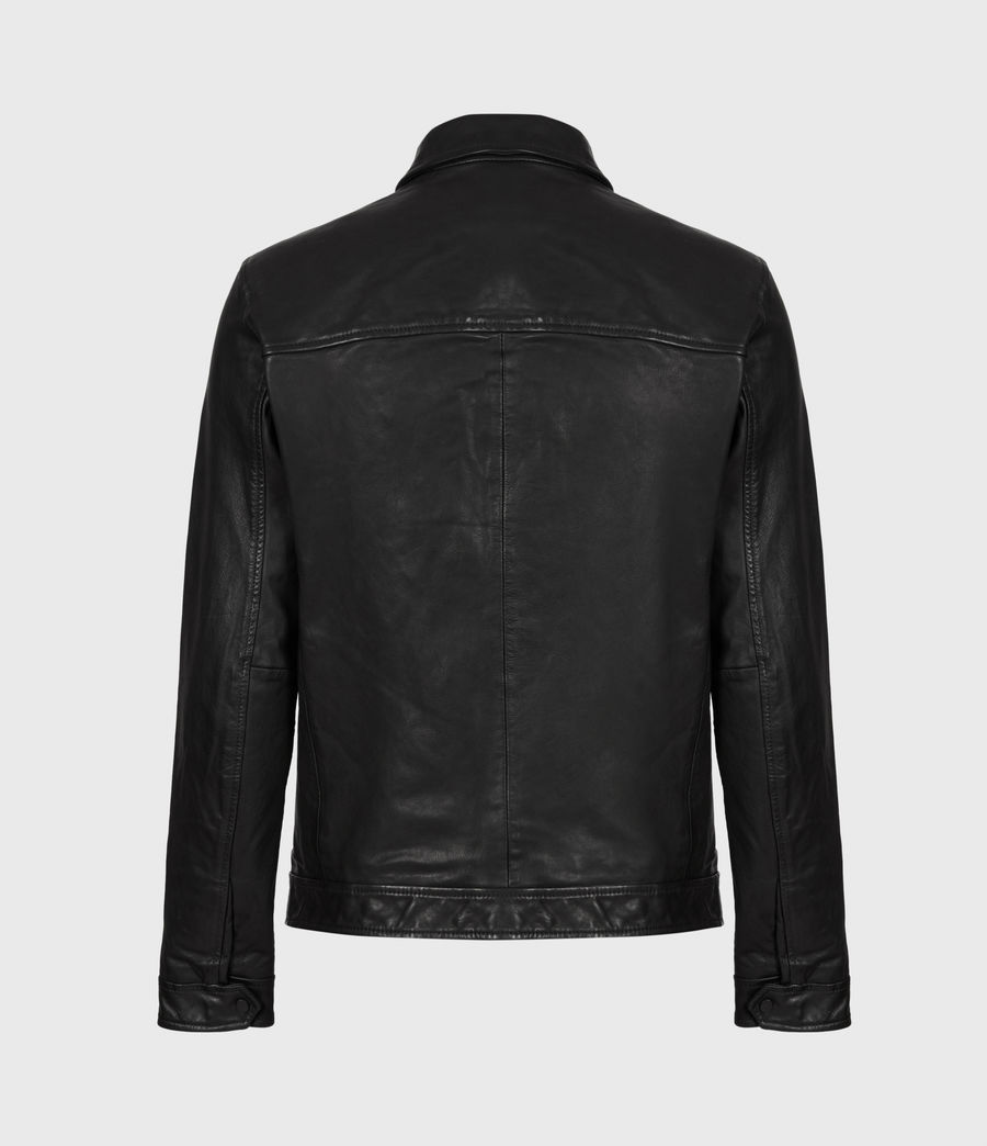 Mens Lark Leather Jacket (black) - Image 3