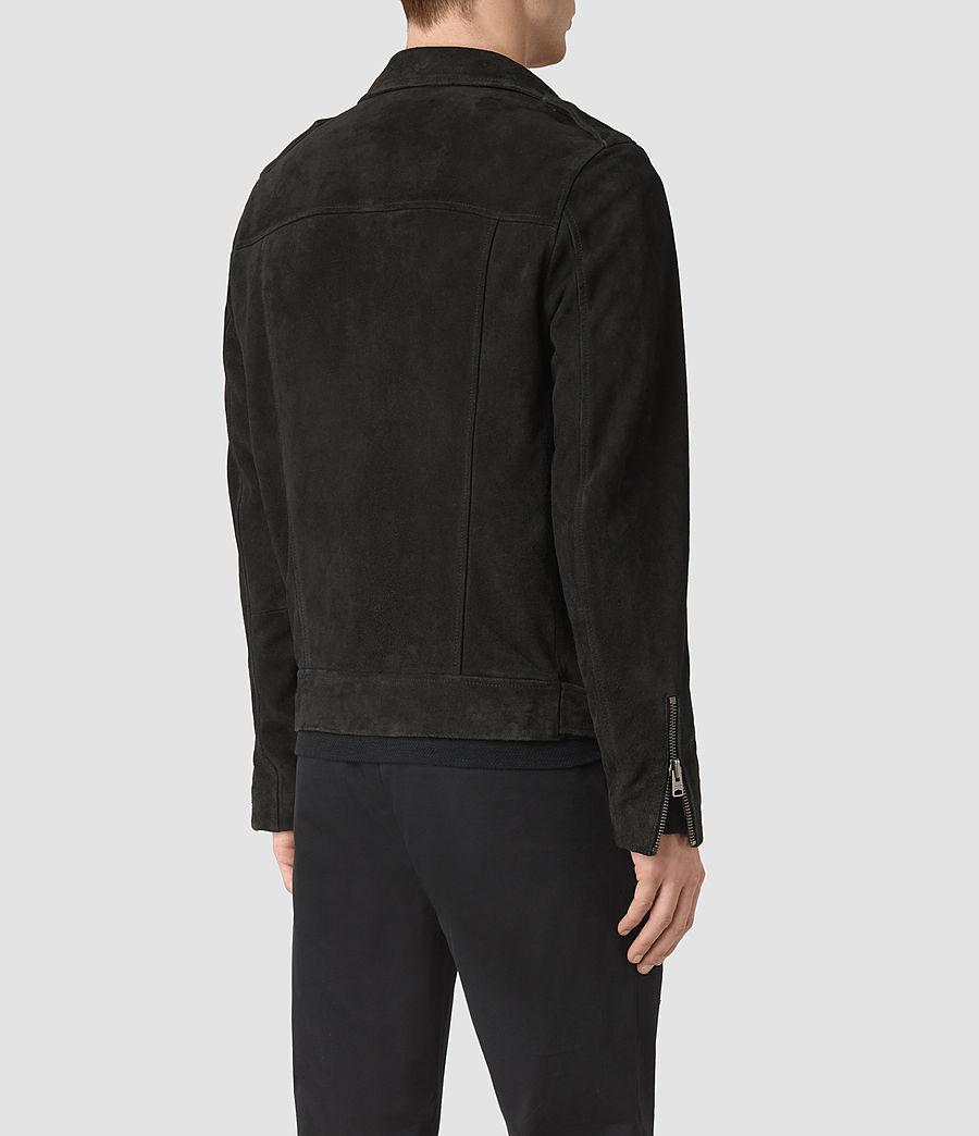 Men's Takeo Suede Biker Jacket (washed_black) - Image 5