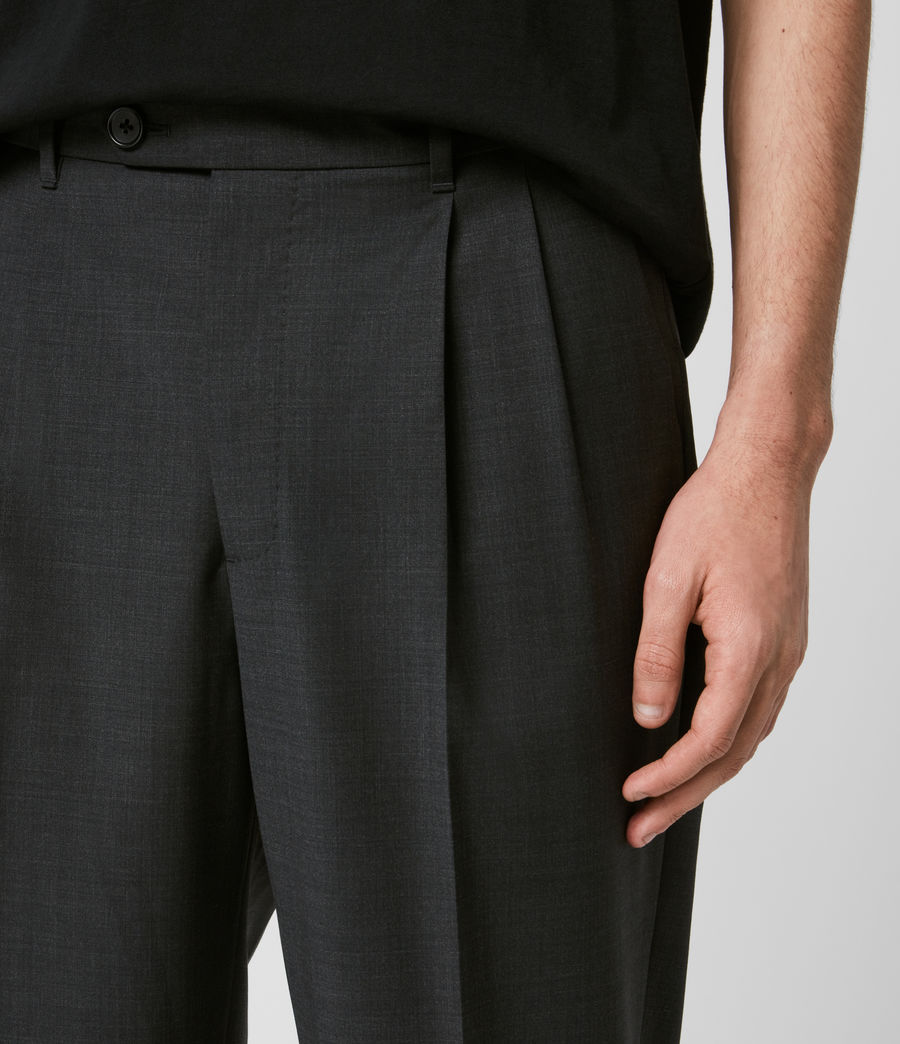 Mens Portman Cropped Straight Pants (charcoal) - Image 2