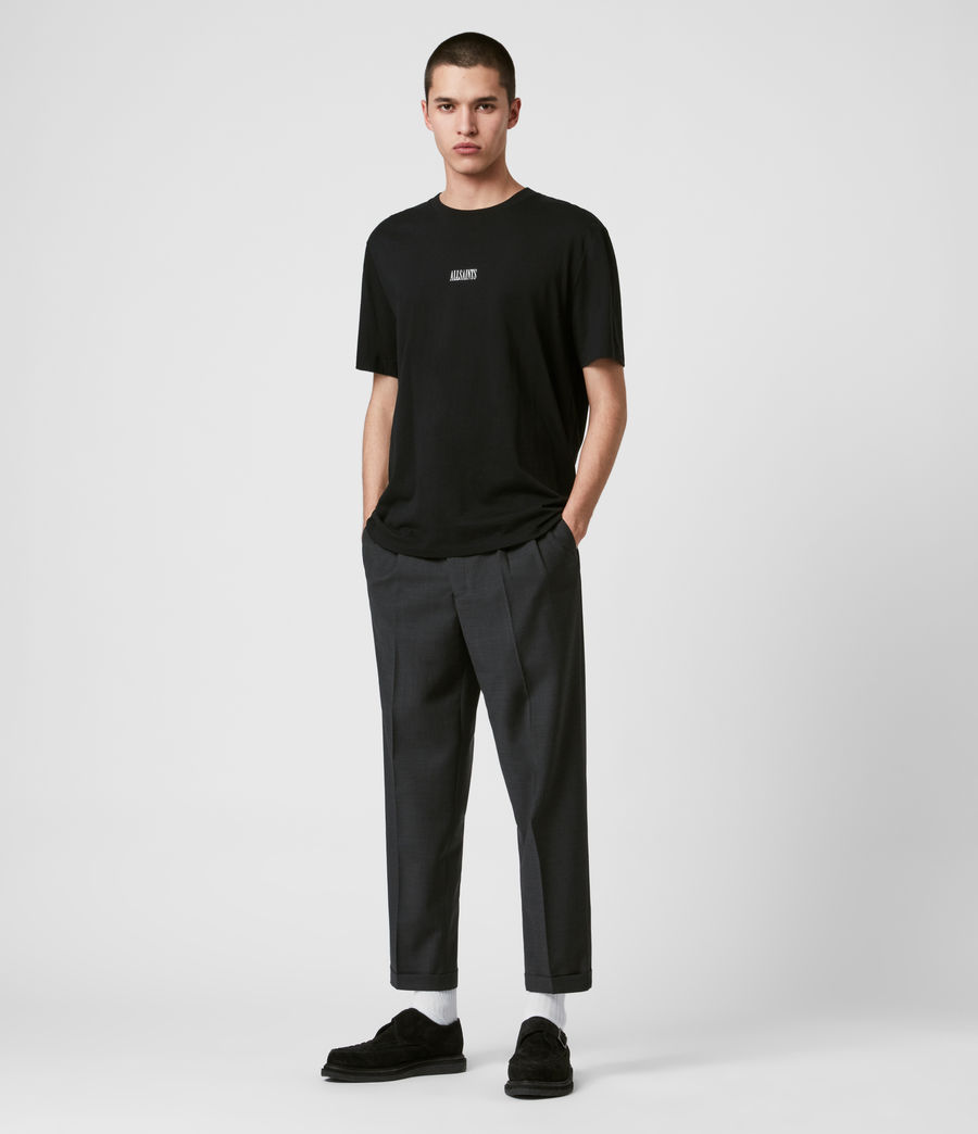 Mens Portman Cropped Straight Pants (charcoal) - Image 3