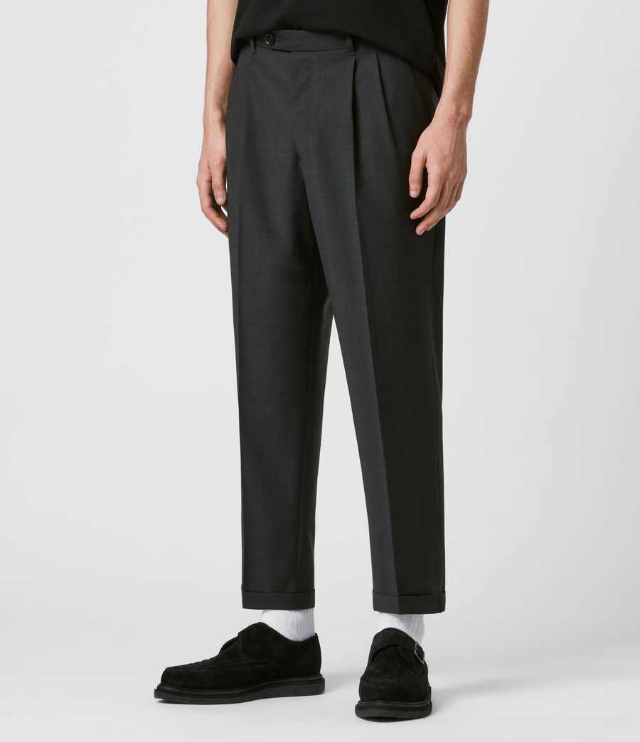 Mens Portman Cropped Straight Pants (charcoal) - Image 4