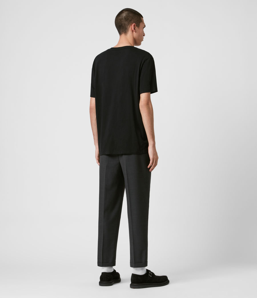 Mens Portman Cropped Straight Pants (charcoal) - Image 6