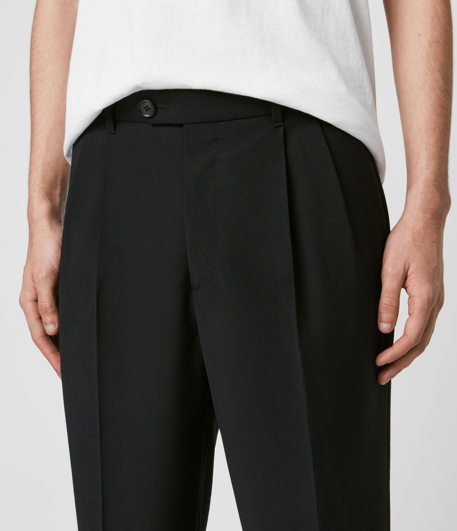 Mens Portman Cropped Straight Pants (black) - Image 2
