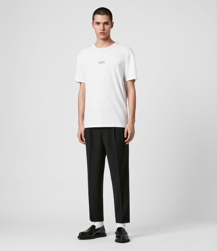 Mens Portman Cropped Straight Pants (black) - Image 3