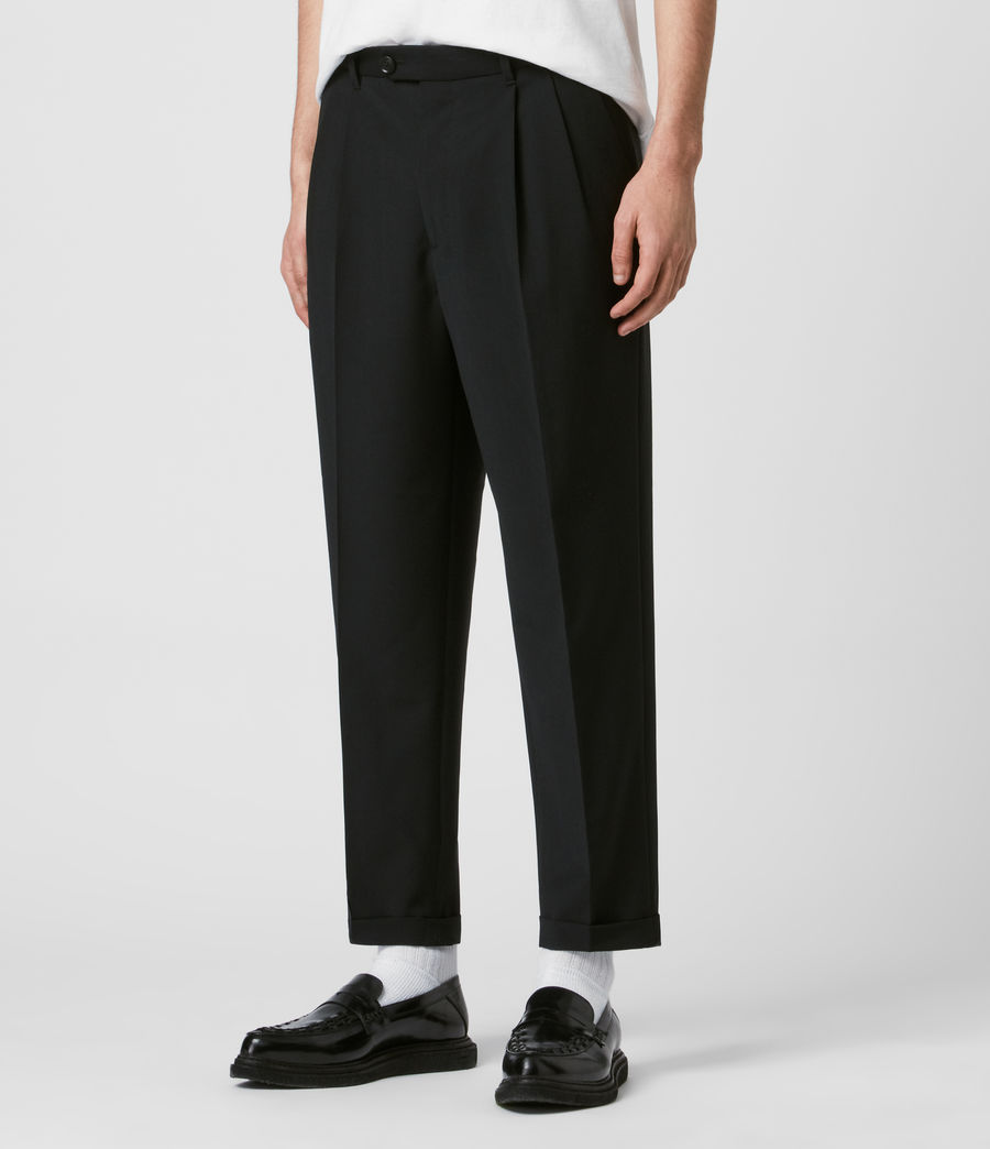 Mens Portman Cropped Straight Pants (black) - Image 4