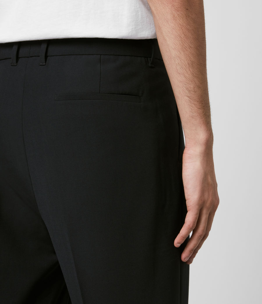 Mens Portman Cropped Straight Pants (black) - Image 5