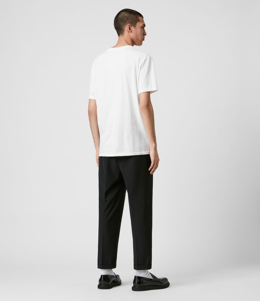 Mens Portman Cropped Straight Pants (black) - Image 6