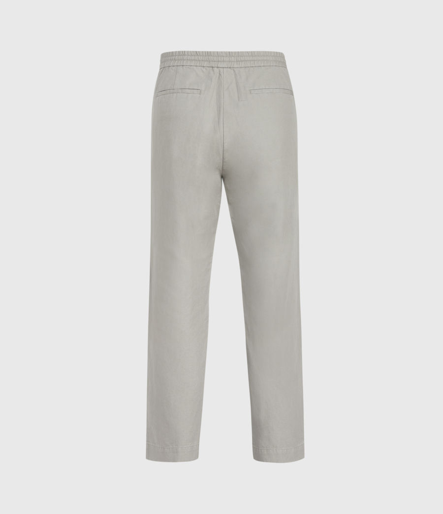 Mens Luckett Linen Blend Cropped Slim Pants (clay_grey) - Image 3