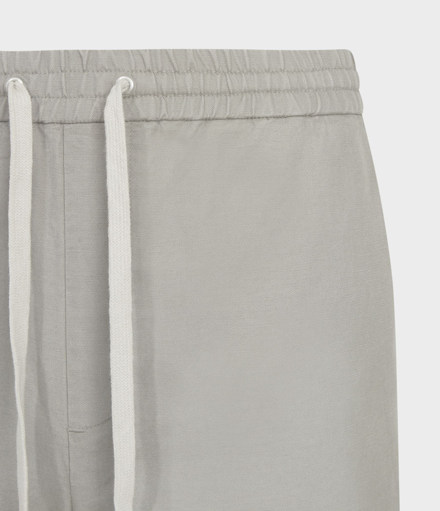Men's Luckett Linen Blend Cropped Slim Trousers (clay_grey) - Image 4