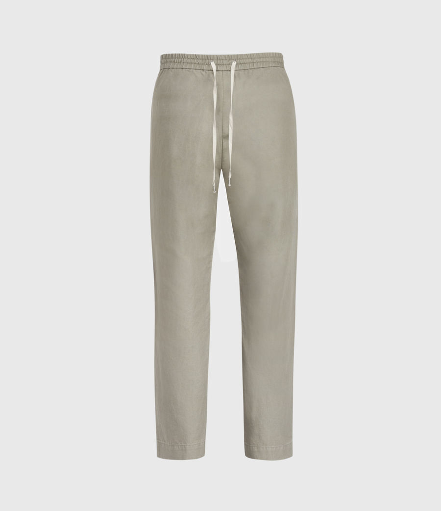 Hombres Luckett Cropped Slim Trousers (sage_grey) - Image 1