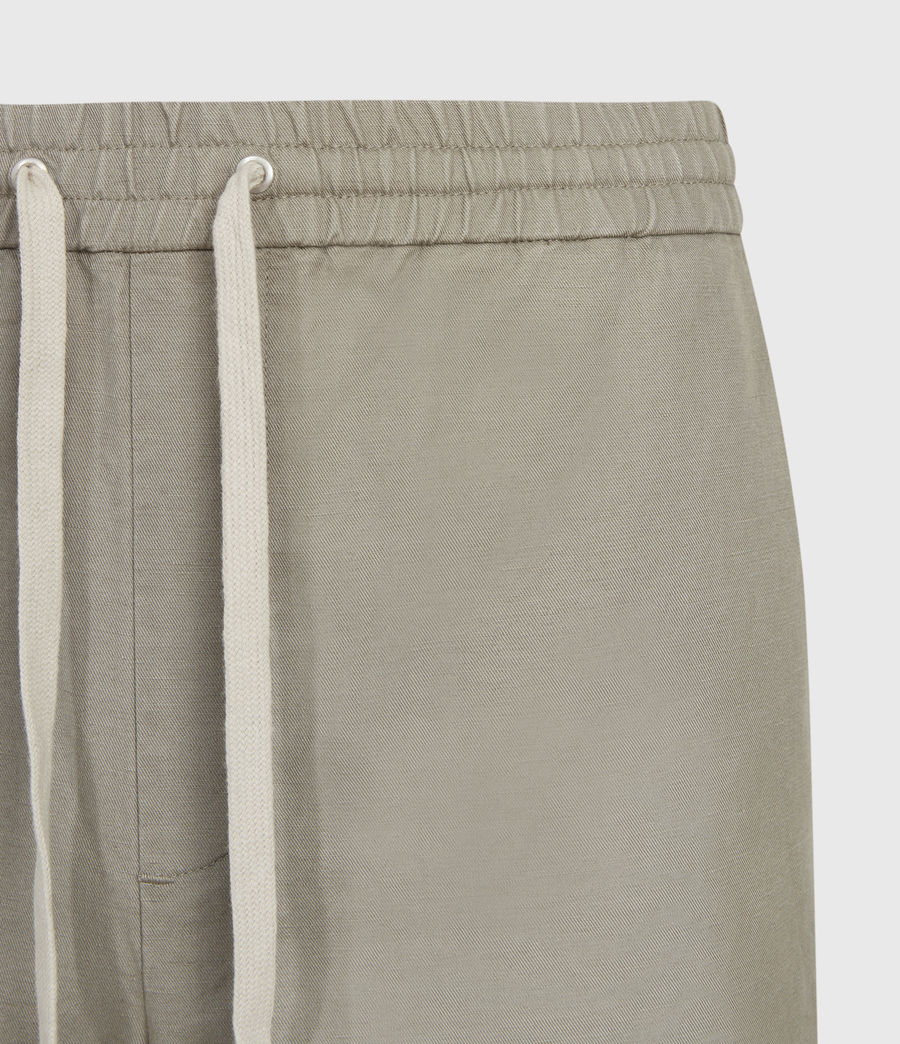 Hombres Luckett Cropped Slim Trousers (sage_grey) - Image 3