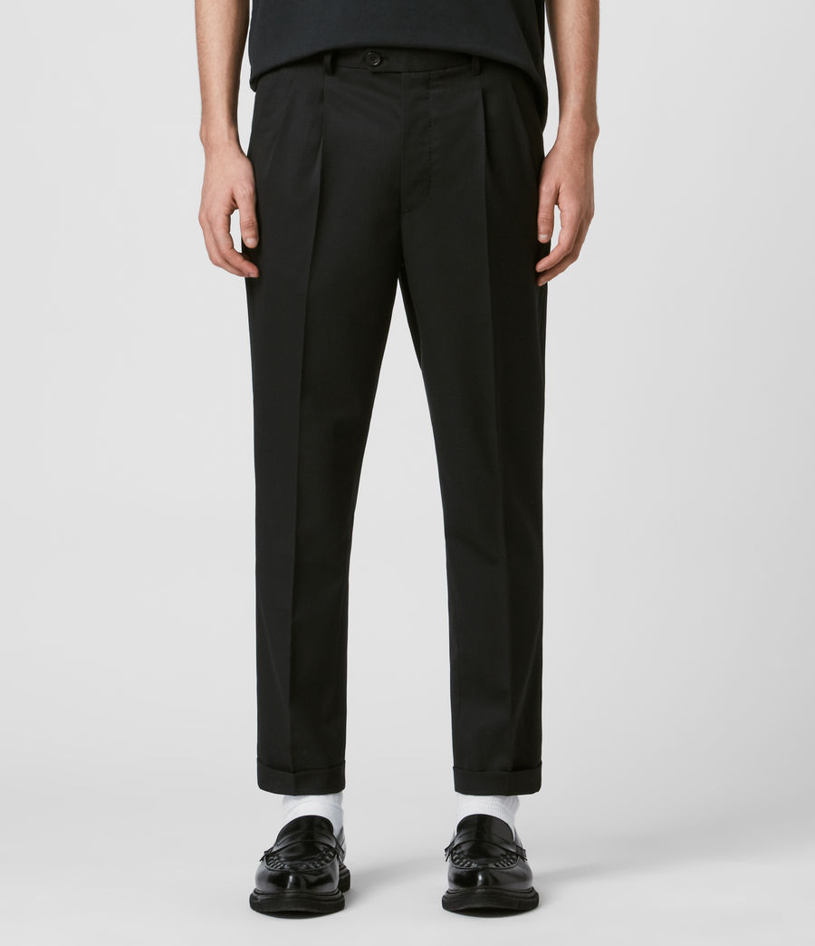 Mens Bury Cropped Slim Pants (black) - Image 1