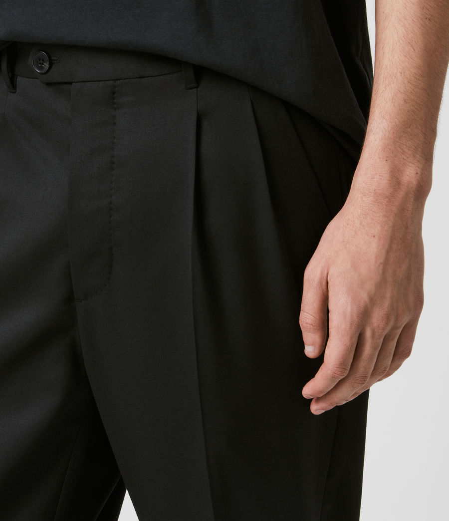 Mens Bury Cropped Slim Pants (black) - Image 2