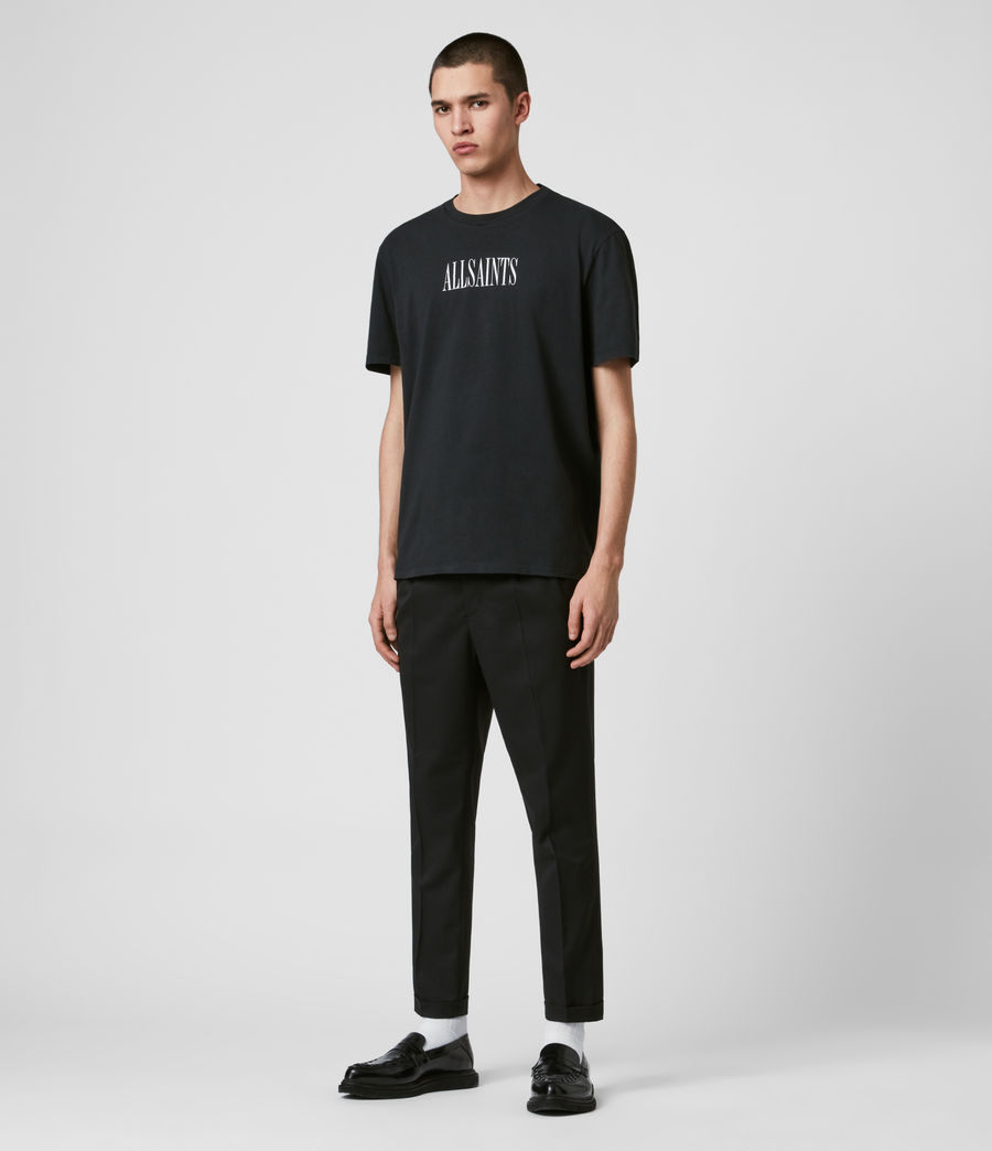 Mens Bury Cropped Slim Pants (black) - Image 3