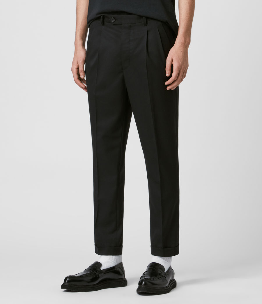 Mens Bury Cropped Slim Pants (black) - Image 4