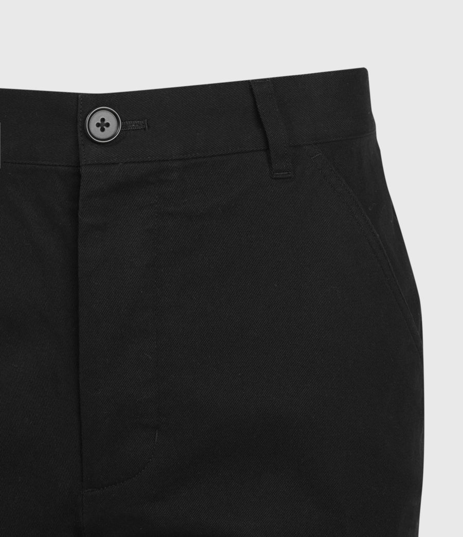 Men's Indus Straight Trousers (black) - Image 4