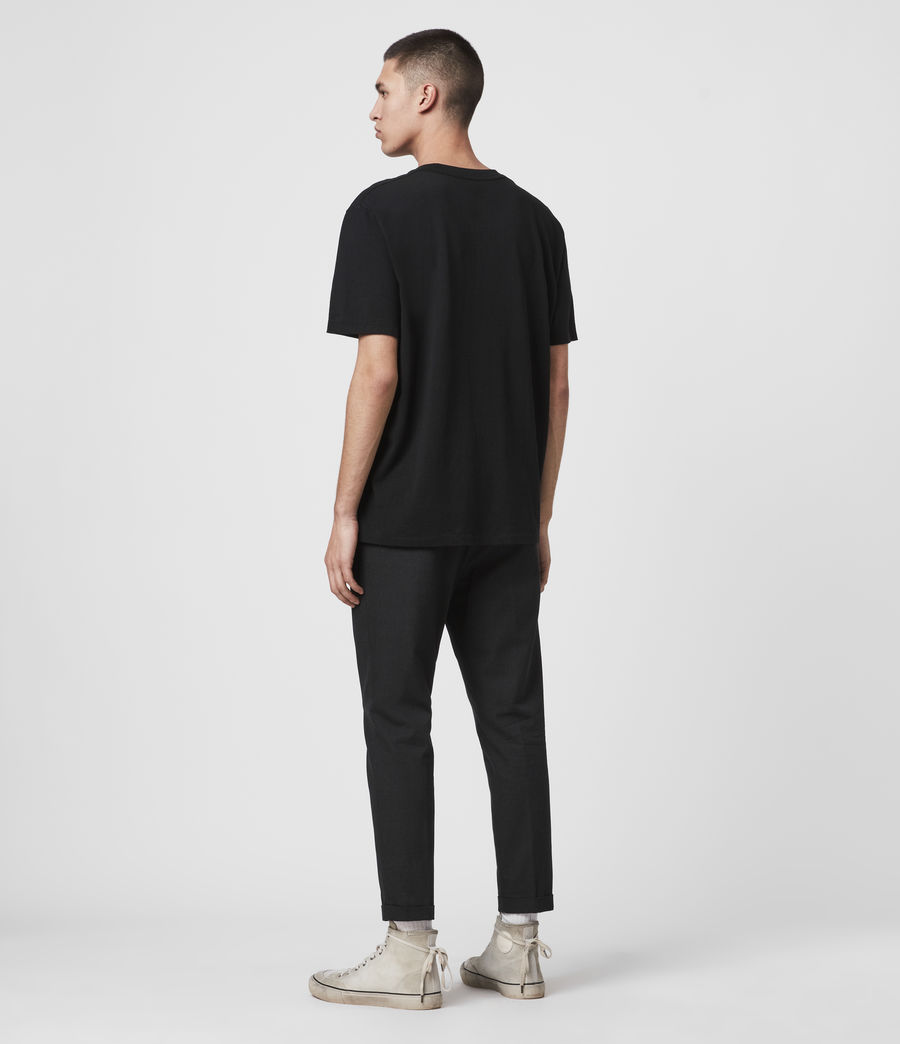 Mens Tallis Cropped Slim Pants (black) - Image 6