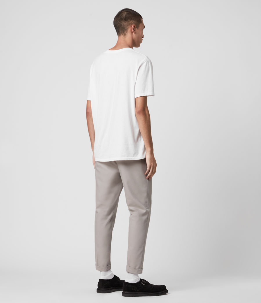 Mens Tallis Cropped Slim Pants (stone_grey) - Image 5