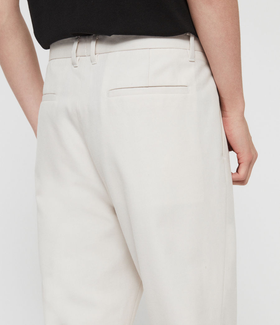 Men's Tallis Cropped Slim Trousers (oyster_white) - Image 5