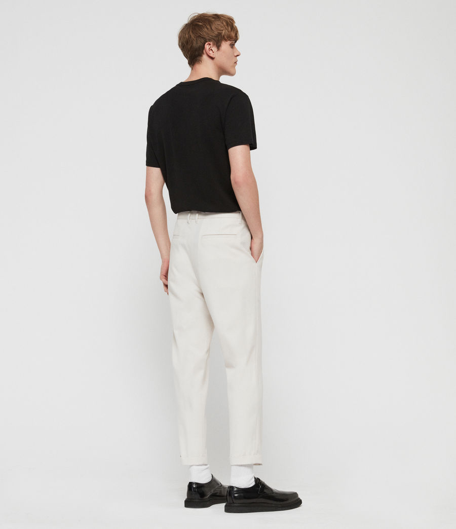 Men's Tallis Cropped Slim Trousers (oyster_white) - Image 6