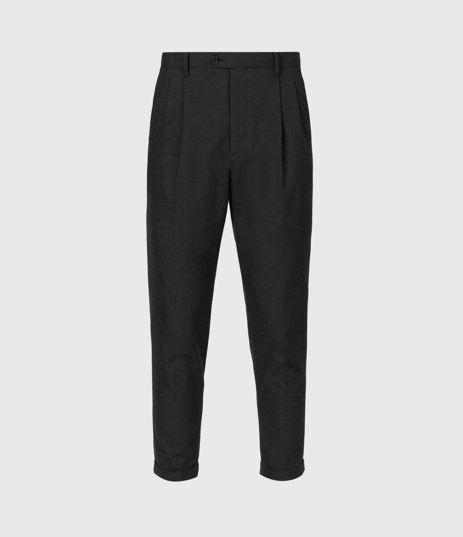 Mens Tallis Cropped Slim Pants (black) - Image 2