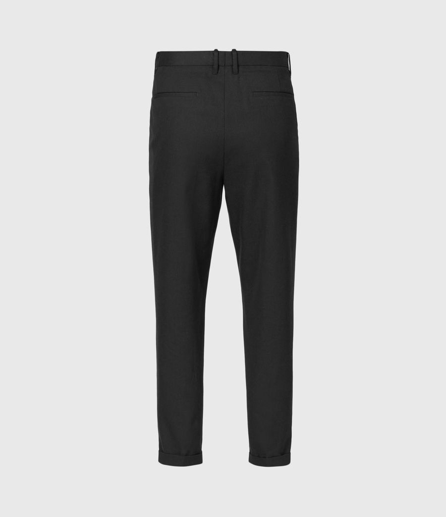 Men's Tallis Cropped Slim Trousers (black) - Image 3