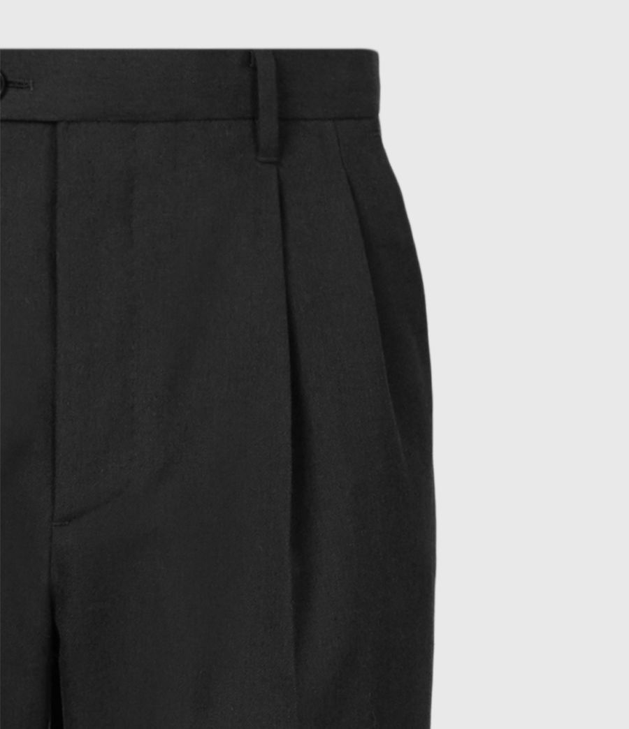 Men's Tallis Cropped Slim Trousers (black) - Image 5