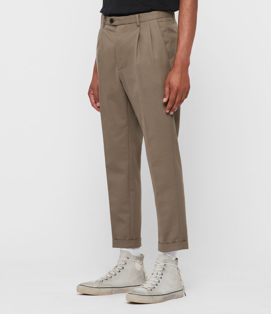 Men's Tallis Cropped Slim Trousers (beech_green) - Image 2