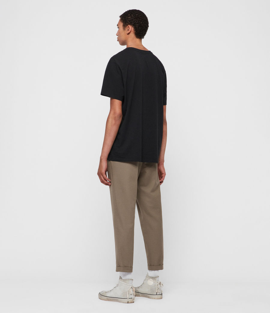 Men's Tallis Cropped Slim Trousers (beech_green) - Image 5