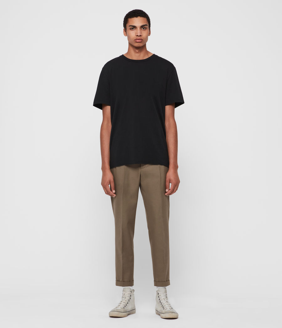 Men's Tallis Cropped Slim Trousers (swat_brown) - Image 3