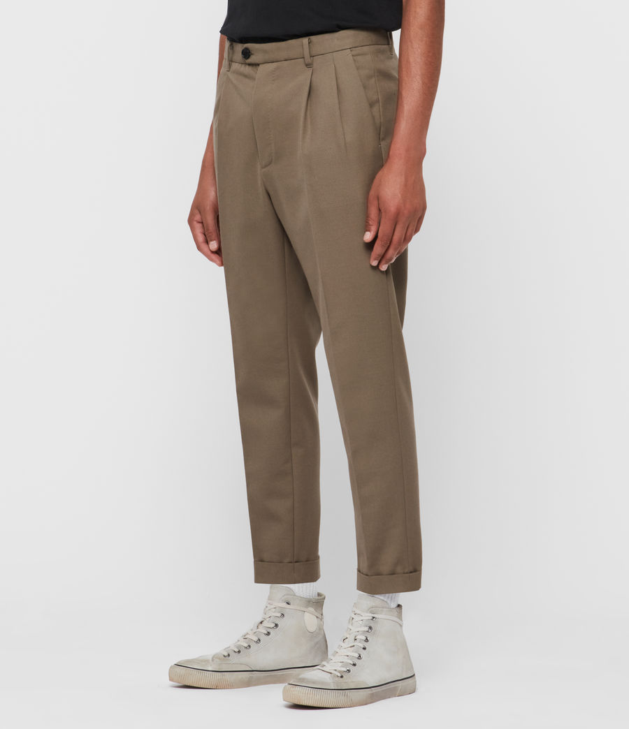 Men's Tallis Cropped Slim Trousers (swat_brown) - Image 4