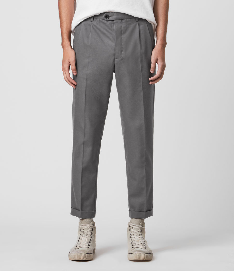 Men's Tallis Cropped Slim Trousers (alp_grey) - Image 1