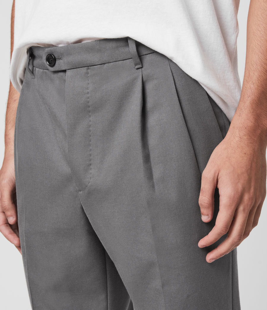 Men's Tallis Cropped Slim Trousers (alp_grey) - Image 2