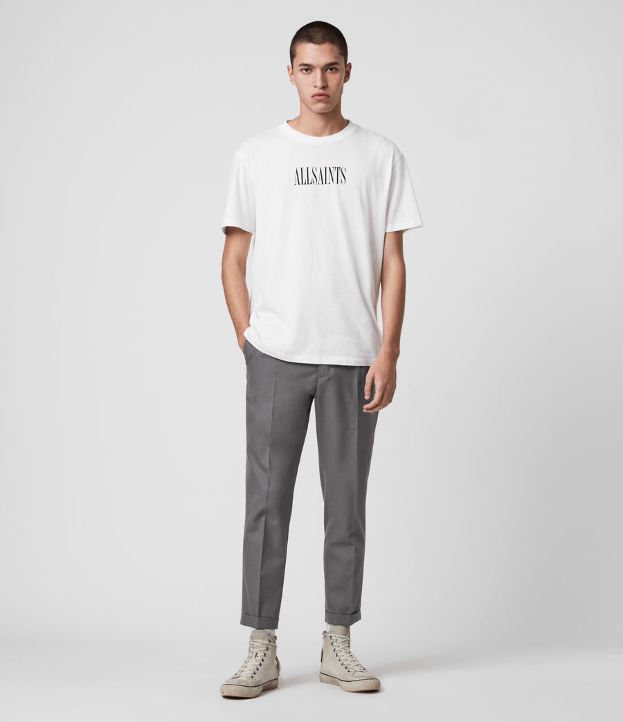 Men's Tallis Cropped Slim Trousers (alp_grey) - Image 3