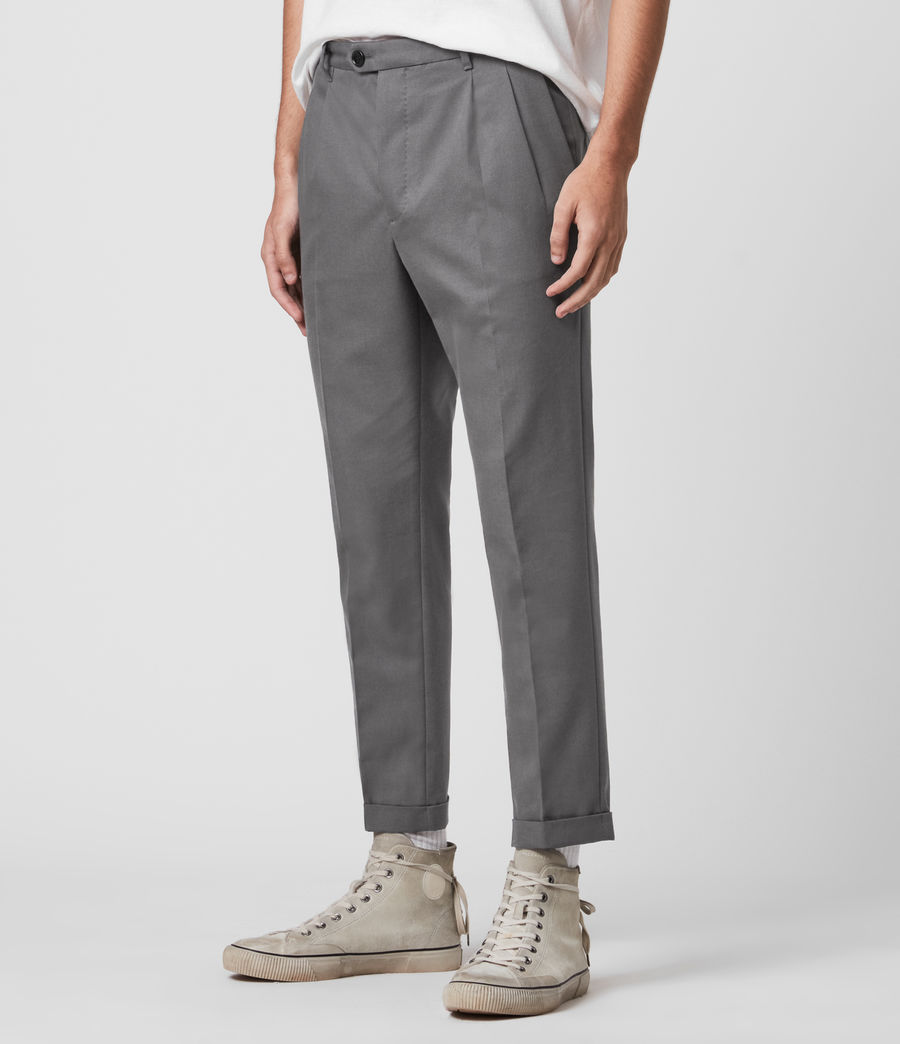 Men's Tallis Cropped Slim Trousers (alp_grey) - Image 4