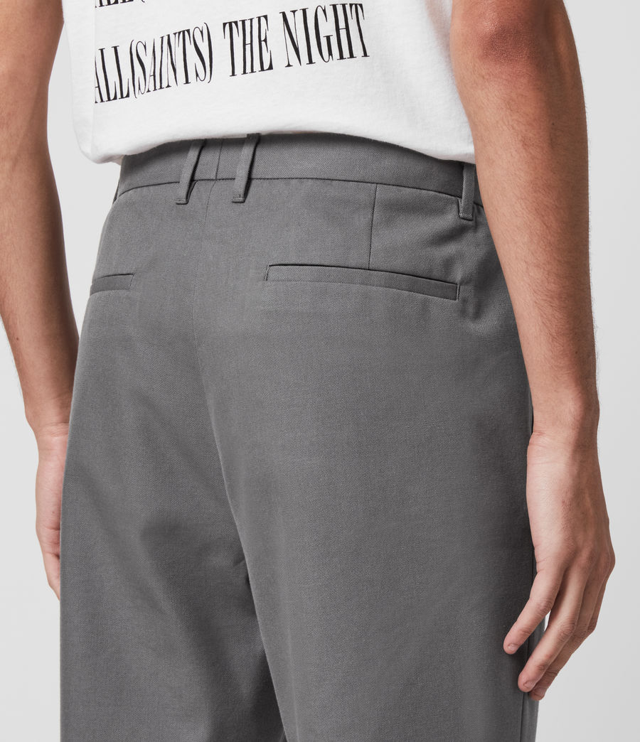 Men's Tallis Cropped Slim Trousers (alp_grey) - Image 5