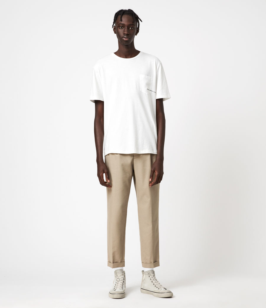 Hommes Tallis Cropped Slim Trousers (safari_taupe) - Image 1