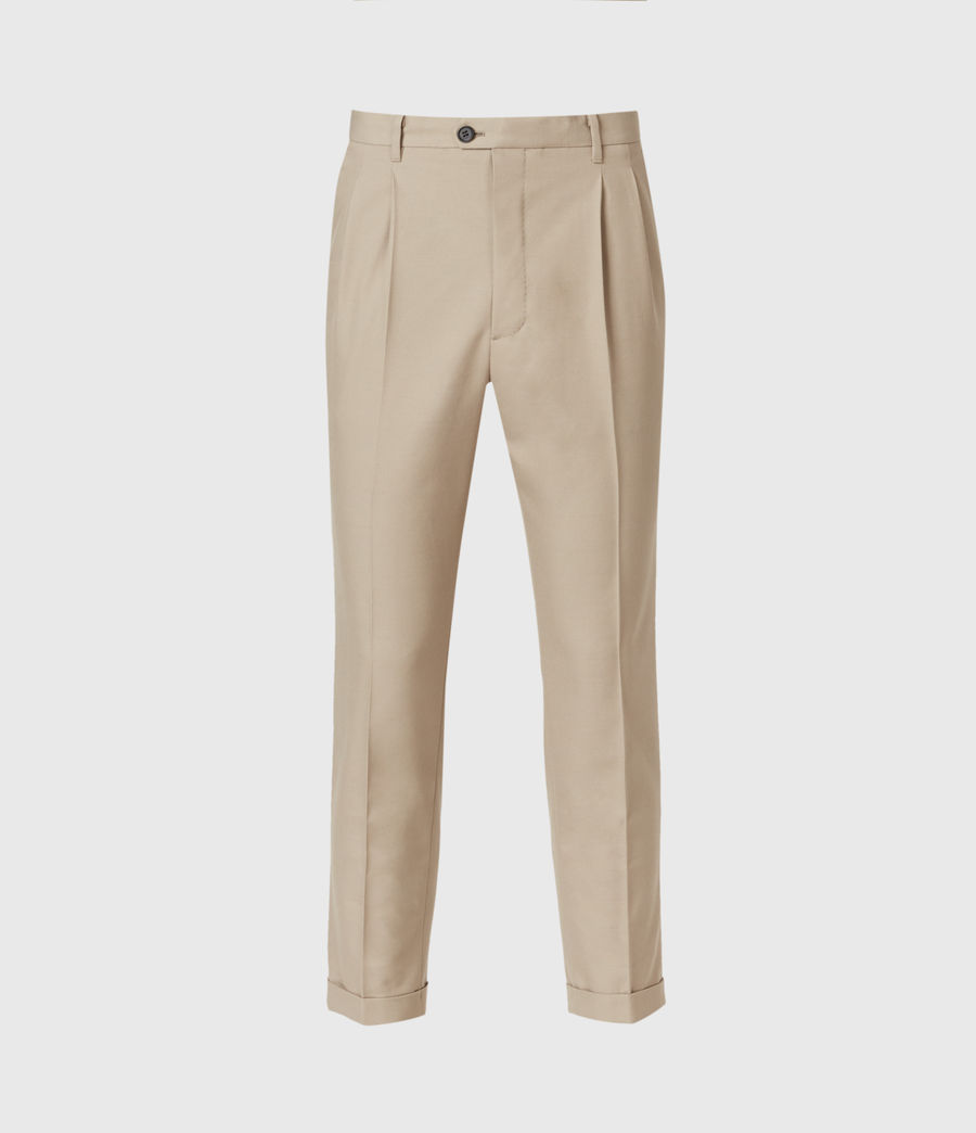 Hommes Tallis Cropped Slim Trousers (safari_taupe) - Image 2