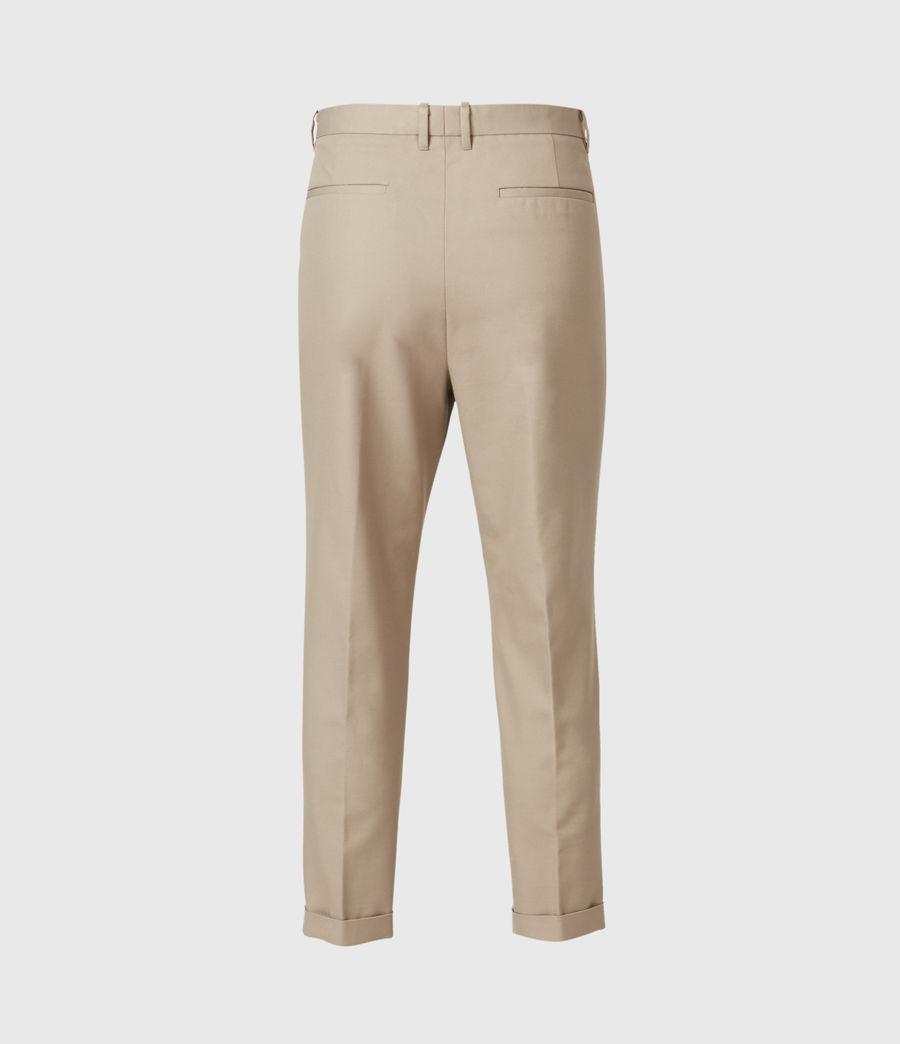 Hommes Tallis Cropped Slim Trousers (safari_taupe) - Image 3