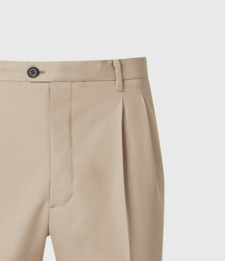 Hommes Tallis Cropped Slim Trousers (safari_taupe) - Image 4