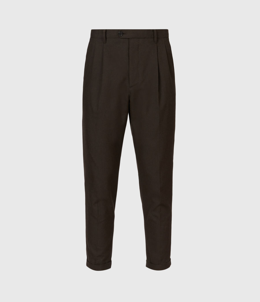 Men's Tallis Cropped Slim Trousers (bitter_chocolate) - Image 2