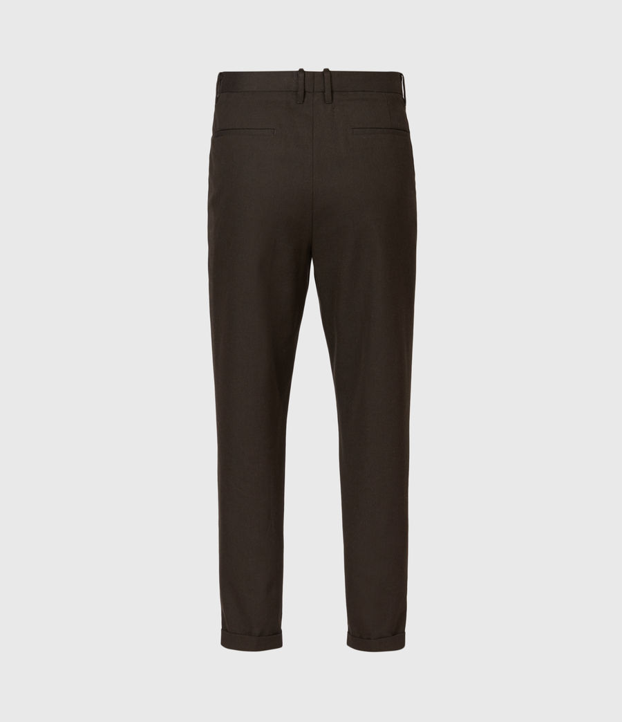 Men's Tallis Cropped Slim Trousers (bitter_chocolate) - Image 3