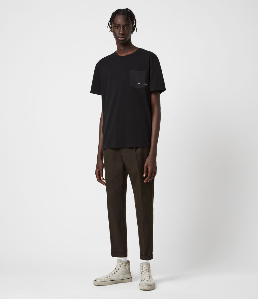 Men's Tallis Cropped Slim Trousers (bitter_chocolate) - Image 4