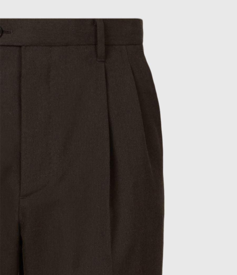 Men's Tallis Cropped Slim Trousers (bitter_chocolate) - Image 5
