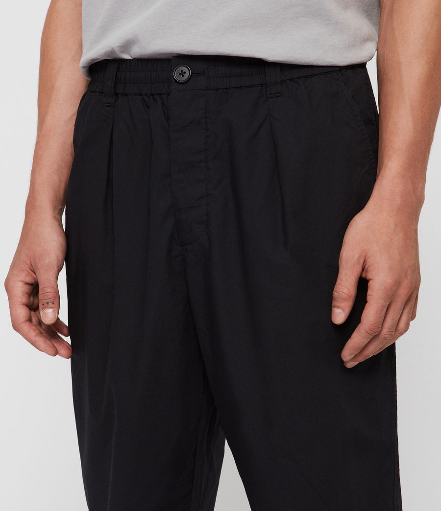 Men's Keet Cropped Wide-Leg Trousers (black) - Image 2