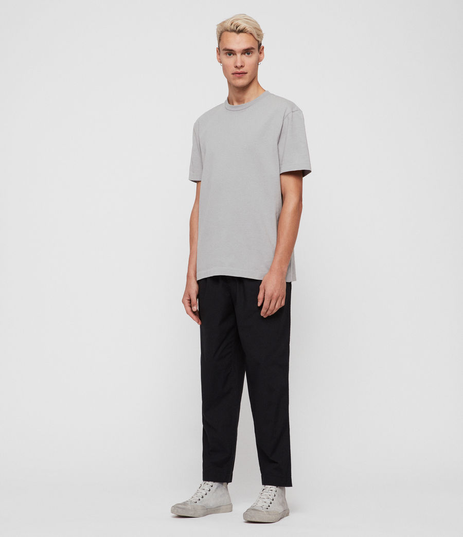 Men's Keet Cropped Wide-Leg Trousers (black) - Image 3
