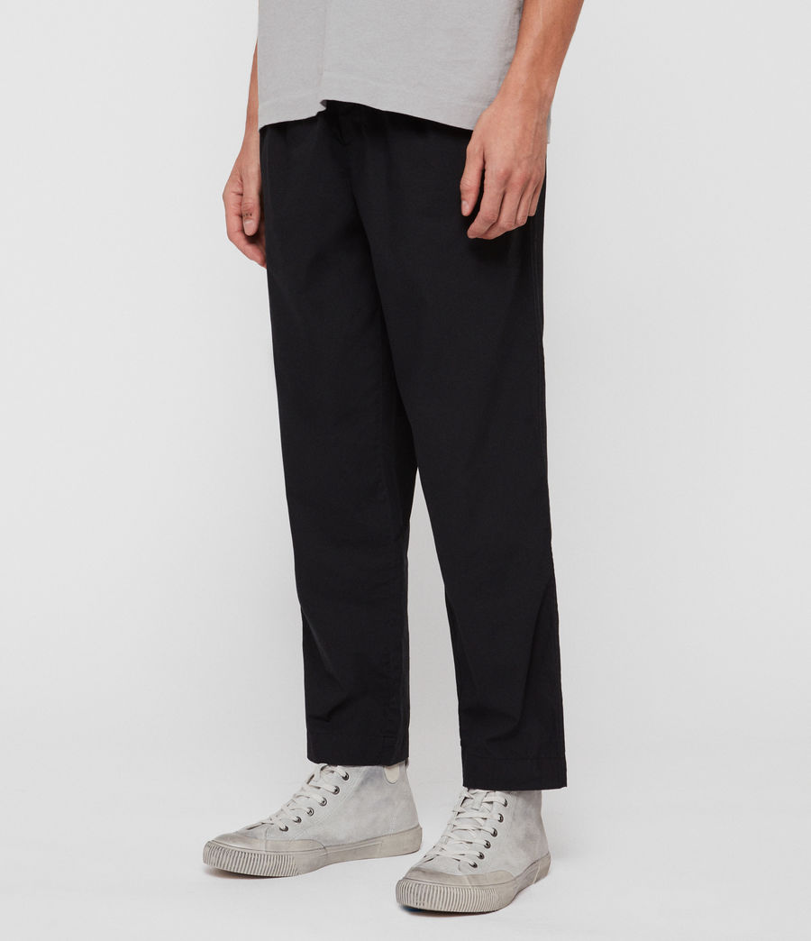 Men's Keet Cropped Wide-Leg Trousers (black) - Image 4